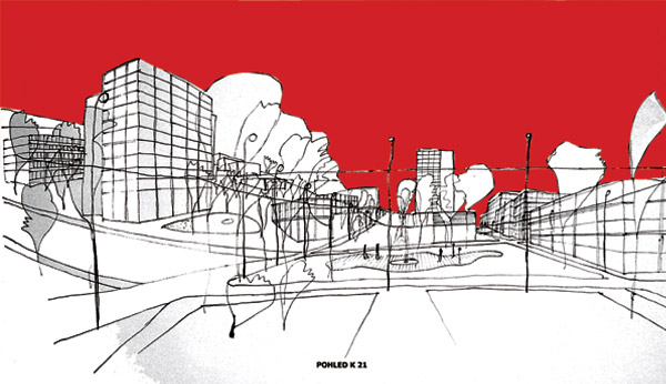 Obrázky ke článku: Dopravní a urbanistické řešení centra města Zlína